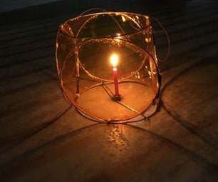 Wireframe Lantern for Mid-autumn Festival
