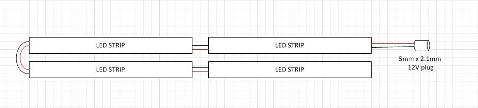 Connect the LED Strips and Plug