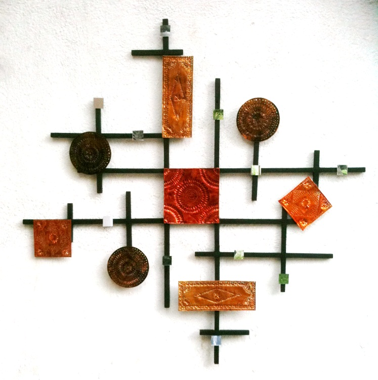 Wood and Metal Wall Art - Tin Punching