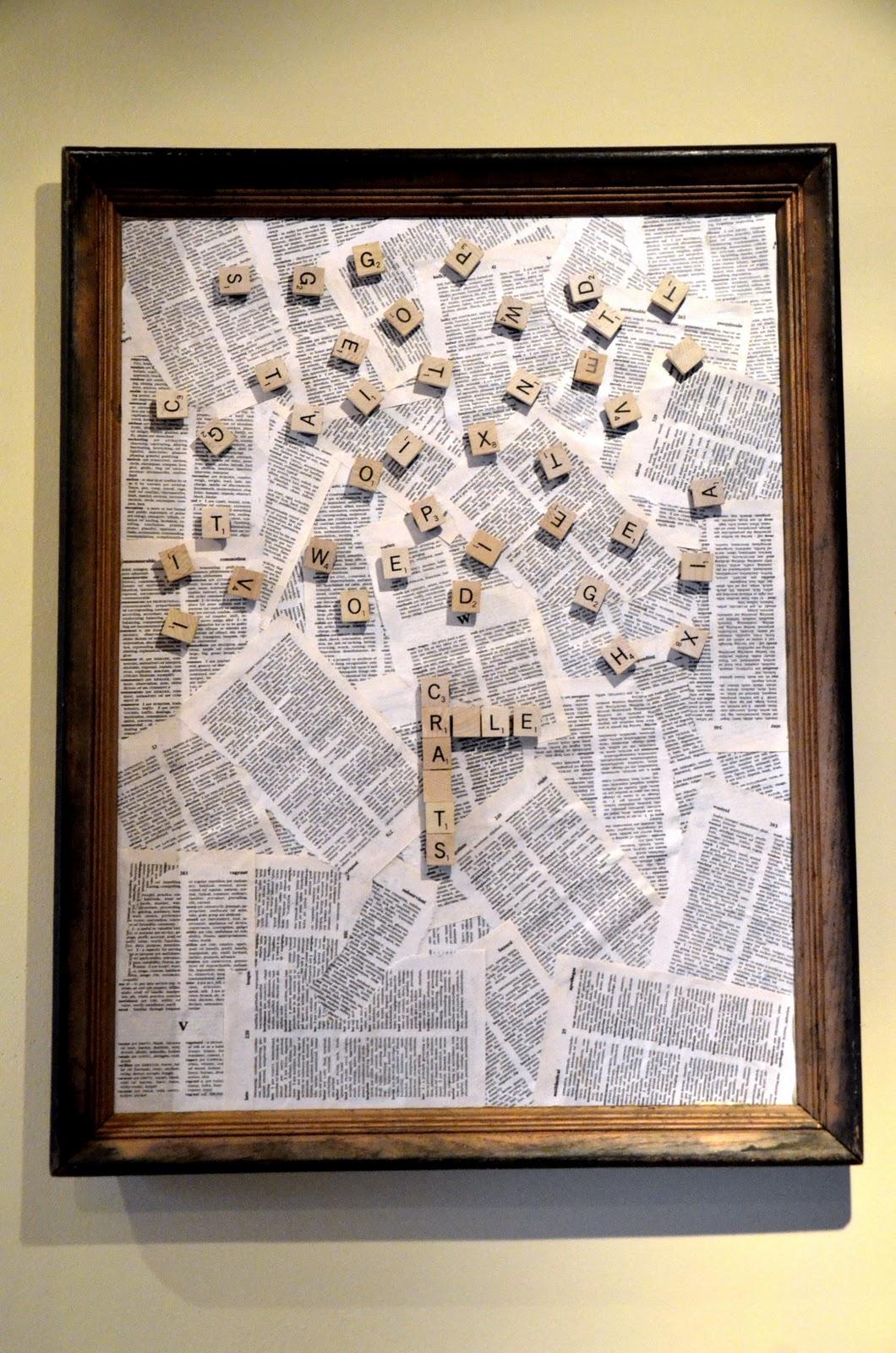 Playable Scrabble Wall Art Tutorial