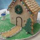 Cookie House with Christmas Lights