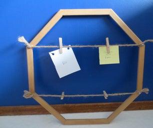 Octogon Clothespin Frame