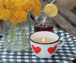 Enamel Cup Anti Mosquito Candle