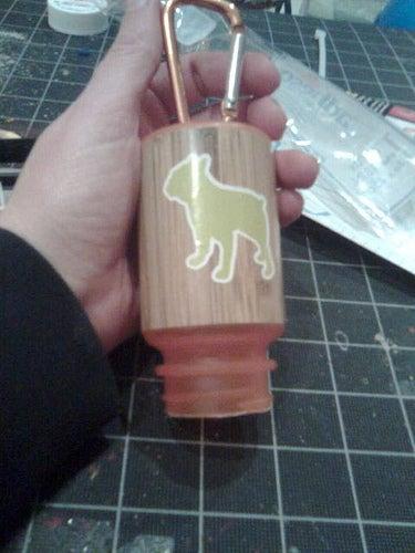 Dog Poop Bag Holder From Used Prescription Bottle!