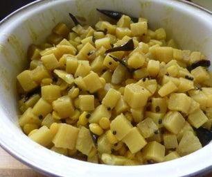 A Paleo Dish With Tender Banana Stem
