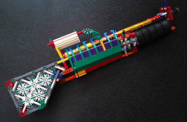 The NK Banshee: a Roman Candle Shooting K'nex Gun