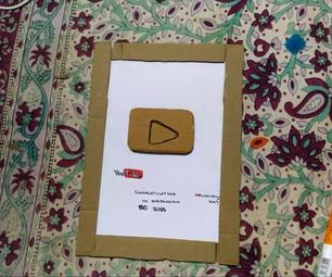 Cardboard Youtube Play Button | DIY Tutorial