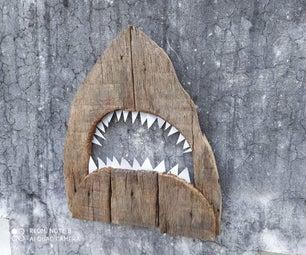 Shark From Reclaimed Wood