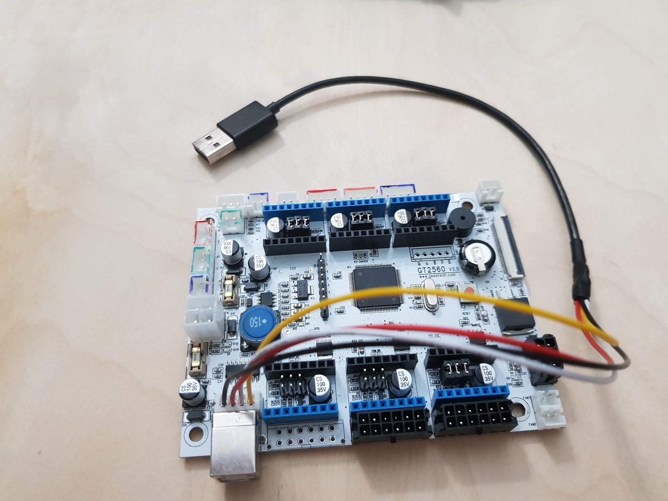 Geeetech Board to Raspberry Pi Via Custom USB Cable Direct Wired