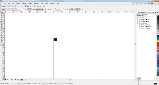 Creating an Anchor Pixel in the Cut Layer