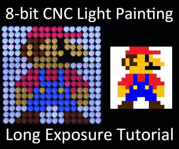 8-bit CNC Light Painting Long Exposure Tutorial!