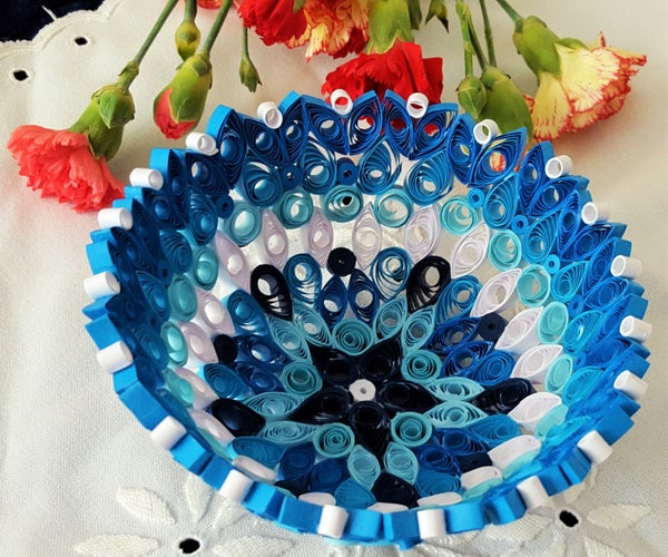 How It Is Made: Quilled Paper Bowl