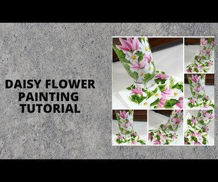 DAISY FLOWER PAINTING TUTORIAL