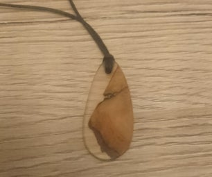 Resin and Wood Pendant