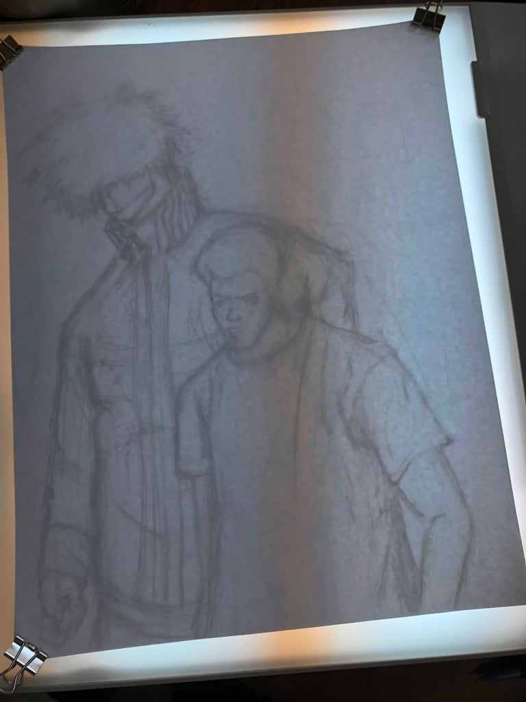 Step 12: Lining Up the Sketch