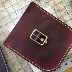 Groove Your Stitch Line and Attach Your Buckles