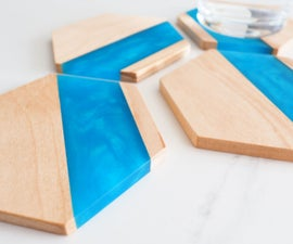 Wood & Epoxy Hexagon Coasters