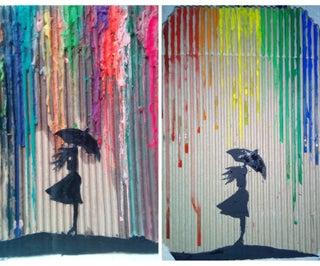 彩色淋浴。