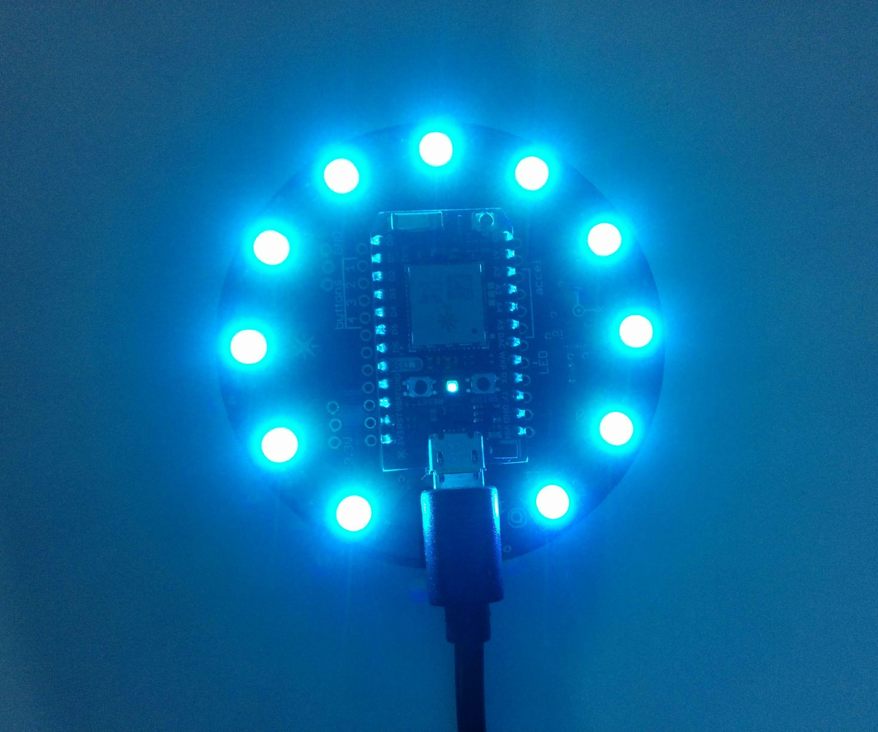 Particle Photon: Internet Button (Notification Lamp)
