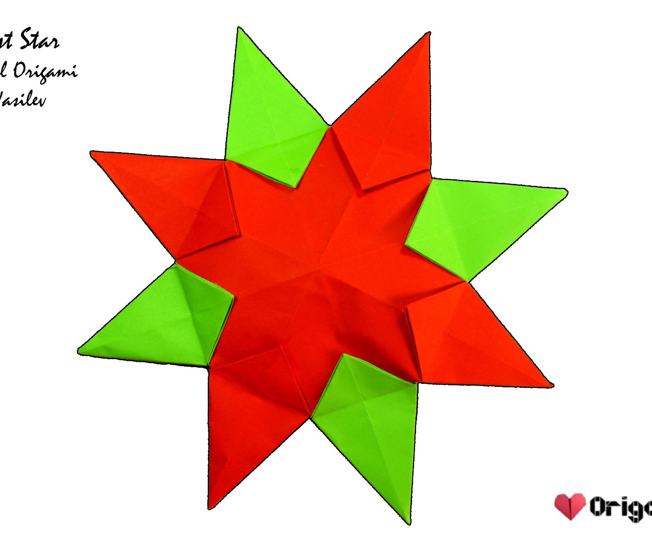 Origami Sunburst Star Video Tutorial