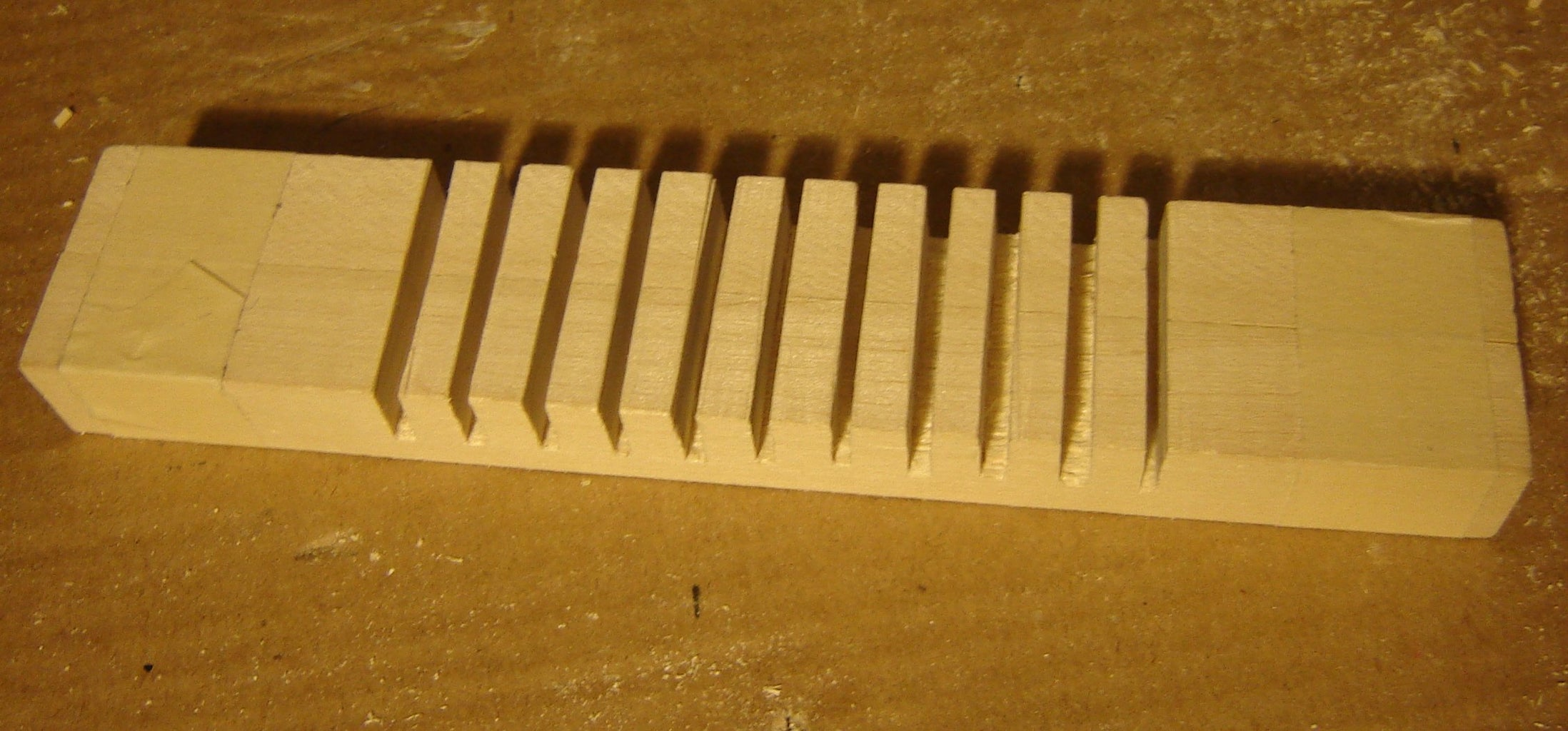 Cutting the Wooden Stand