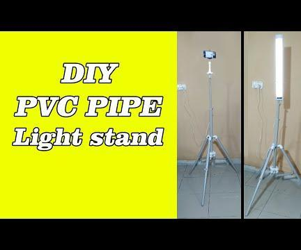 How to Make a Pvc Pipes Tripod and Light Stand