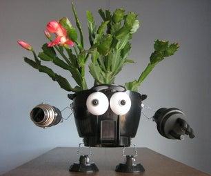 使有robo-planters重新使用家庭垃圾