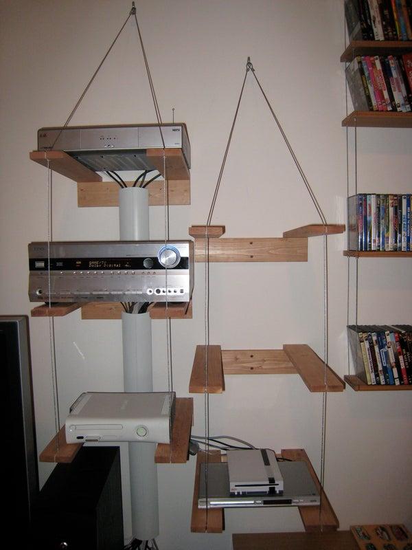 Industrial Looking Audio Video Equipment Shelves