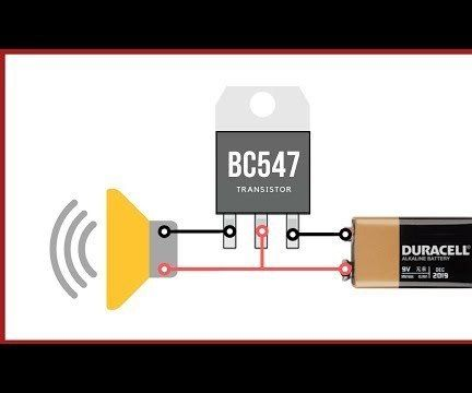 Simple Basic Audio Amplifier With BC547 Amplifier
