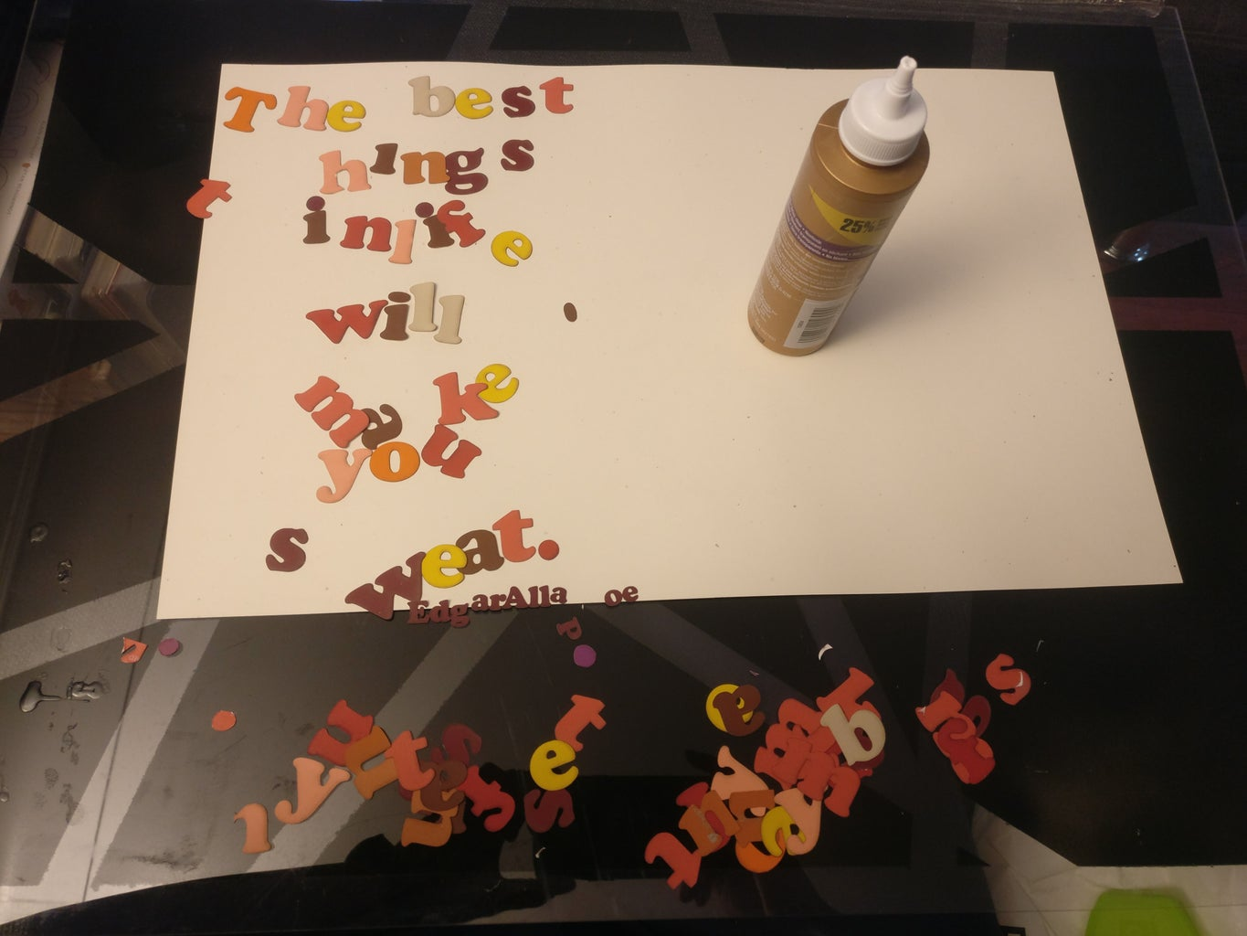 Glue the Letters