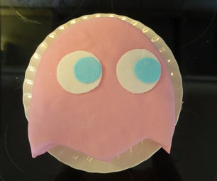 Pac Man Cake: Pinky the Ghost