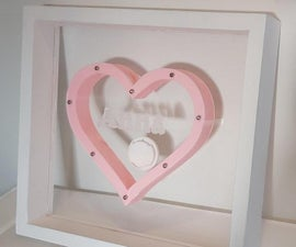 Framed Heart Money Box
