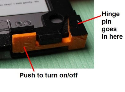 Assemble the Big Power On/off Button on Underside