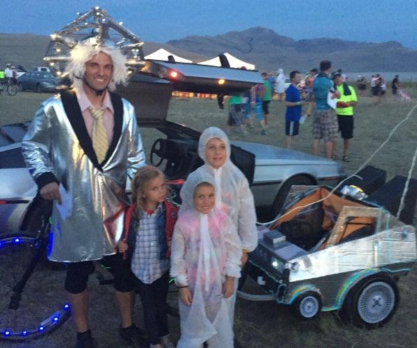 Back to the Future DeLorean Bike Trailer
