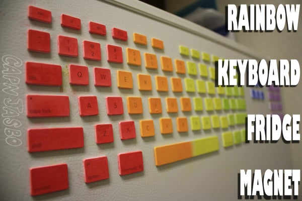 RAINBOW KEYBOARD FRIDGE MAGNET