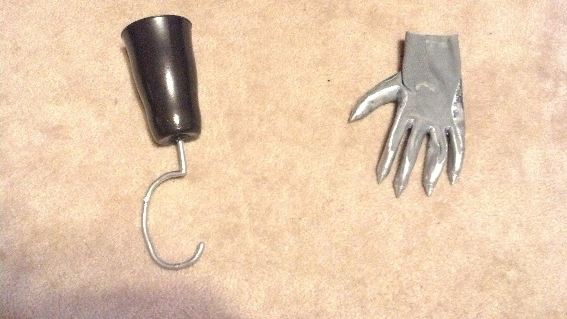 E. Hand, Hook, and Feet