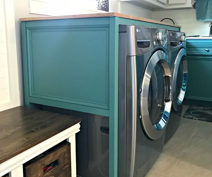 DIY Laundry Table Over Your Washer and Dryer