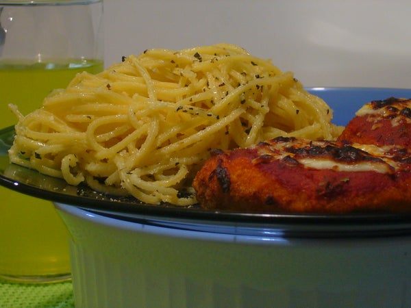 [Collegiate Meals] Basil Parmesan Spaghetti