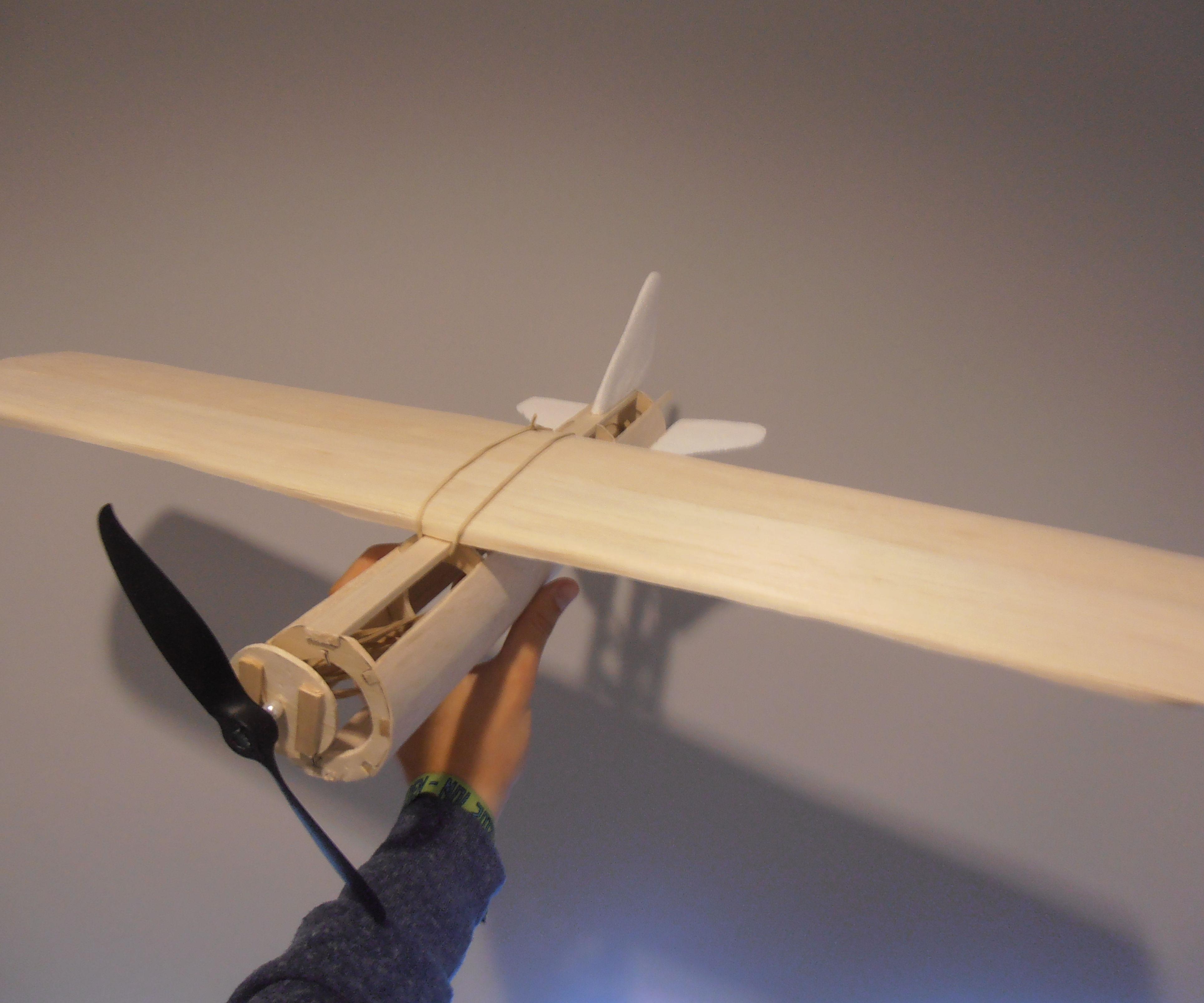 Rubberband balsa airplane