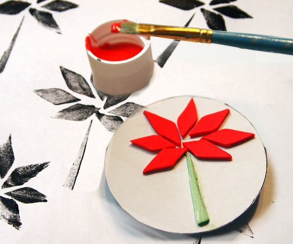 DIY Simple Stamps From Foam