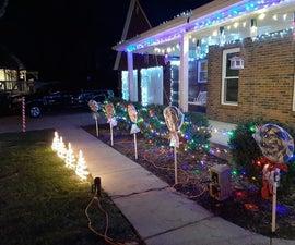 Giant Lollipop Christmas Decorations