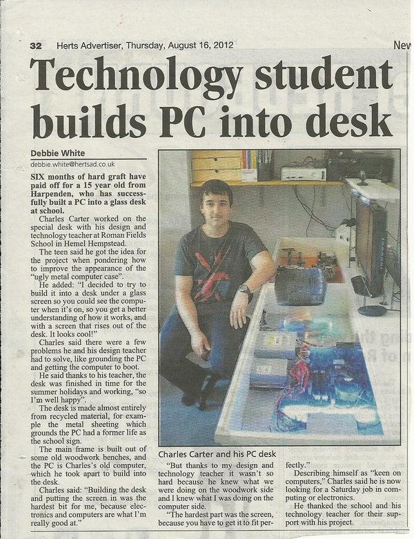 PC IN a DESK!!!