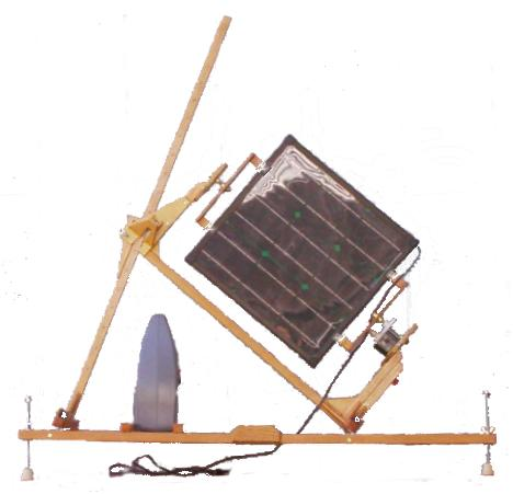 Portable Sun Tracking Solar Panel With a Windup Clock Drive