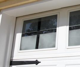 Faux Finish Your Garage Windows