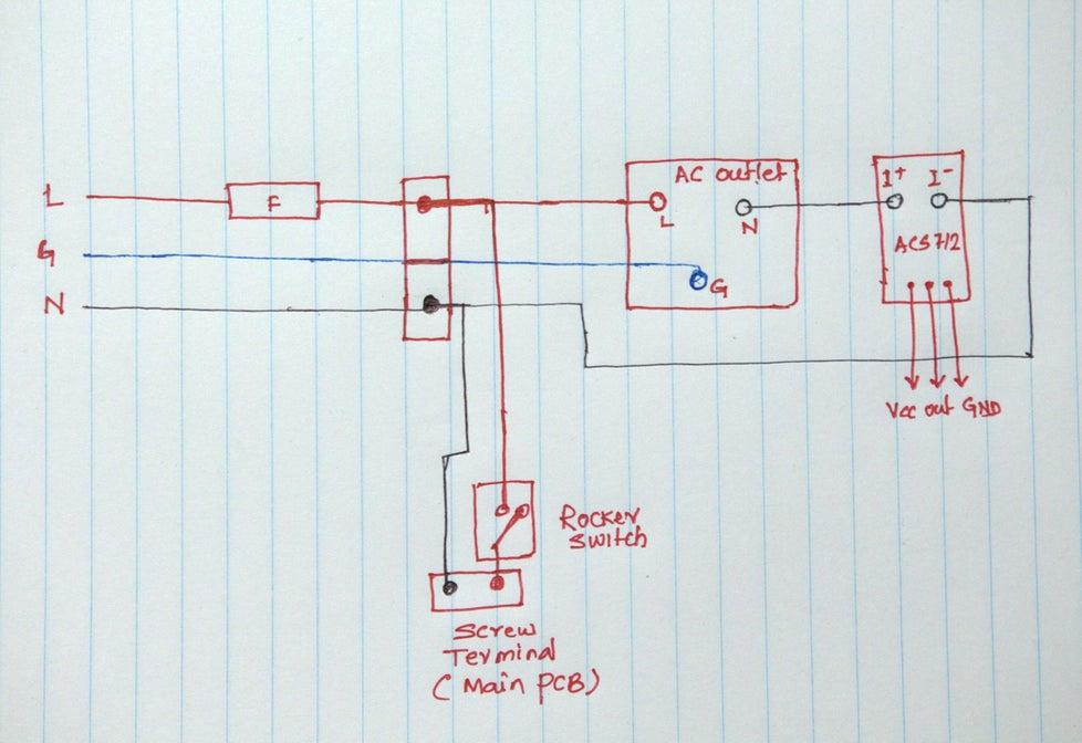 Diagrama de cableado de CA