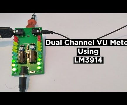 How to Make a Dual Channel Vu Meter Using LM3914