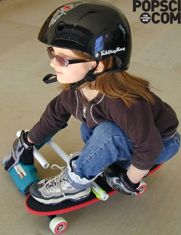 5-Minute Project: Drill-Powered Skateboard
