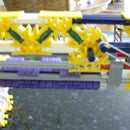 Knex gun with double drum mags