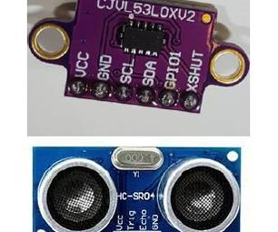 HC-SR04  VS VL53L0X - Test 1  - Usage for Robot Car Applications