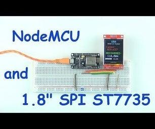"NodeMCU and 1.8"" SPI ST7735 Display"